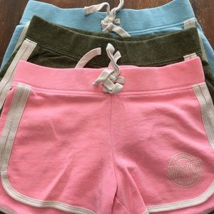 Lot of 3 Justice logo soffee shorts
